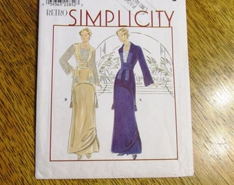 RETRO 1910's EDWARDIAN Dress / Titanic Gown / Elegant Titanic Costume - Size (12 - 14 - 16) - UNCUT Sewing Pattern Simplicity 8640