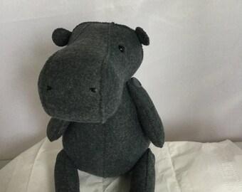 Wool felt stuffed Hippo