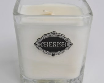 Unscented Soy Candle in Reusable Clear Glass Container