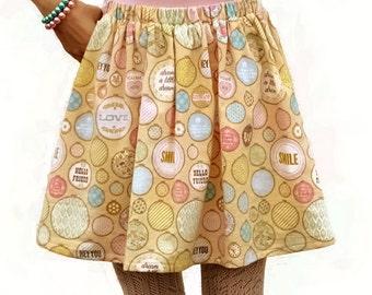 Plus Size Skirt, Flannel Skirt, Plus Size Midi Skirt, Elastic Waist Skirt, Skirt Sizes 16 18