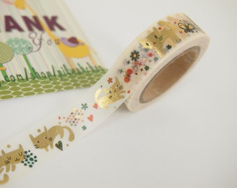 Golden Cat Washi Tape (10M)