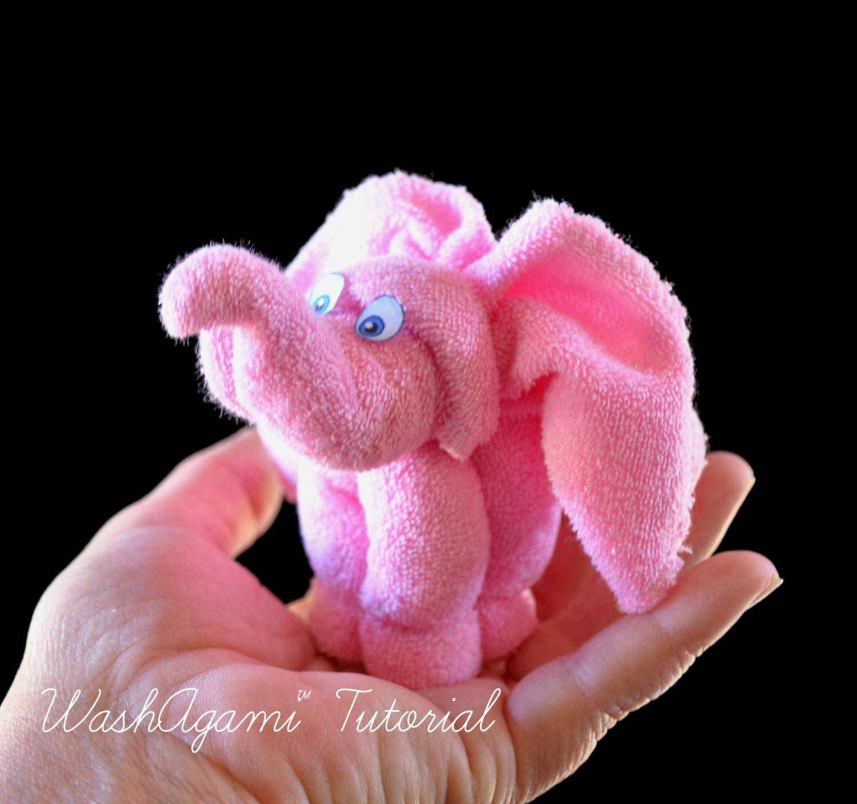 Baby Washcloth Elephant Diaper Cake Topper