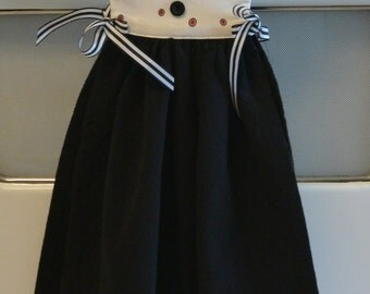 Kitchen Towel Dress, Red, Black and White