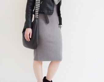 Black Leather Veronica Mars Bag - Silver Snaps - Plain Front&Back, Messenger bag, Cross Body Purse, Borse, Bourse, Cuir, Bolso Cuero, Tasche