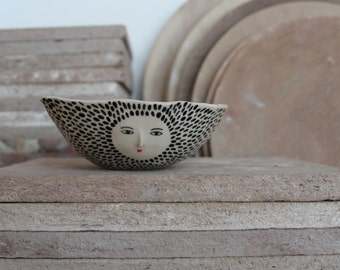 Wonky bowl - hand built bowl / container - one of a kind