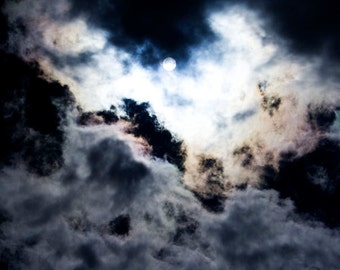 Dramatic Clouds Photography Spooky Atmosphere Abstract Photography Cloudscape Halloween Decor Dark Sky Scary Mood - P059