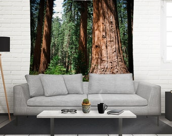 Redwood Forest Tapestry, Tree Wall Tapestry, Forest Wall Art, California Redwoods Wall Tapestry, Sequoia Trees, Sierra Nevada Mountains