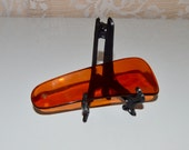 Amber Clear Plastic Shoehorn Vintage Shoehorns Amber Shoe Horn Collectible