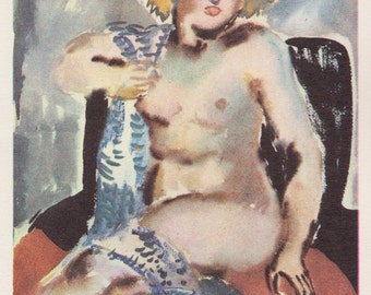 "T. Mavrina ""Model"" Postcard -- 1974"