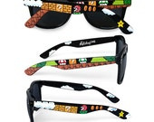 READY TO SHIP Super Mario Christmas gift unique customized sunglasses gift for her gift for boyfriend gamer geek Piranha Plant 1UP wayfarer