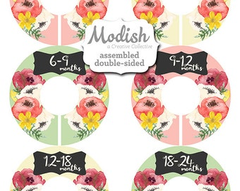 Closet Dividers, Assembled, Baby Closet Dividers, Closet Organizers, Girl, Flowers, Poppy, Poppies, Poppy Flowers Nursery Decor, Baby Girl