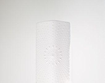 Modernist Matte White Porcelain Vase // Krautheim Germany