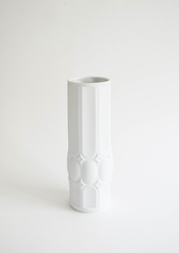 Royal KPM Mid Century Matte White Porcelain Vase