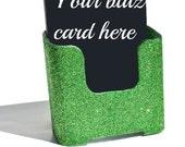 It Works inspired blitz card holder.  It Works bling. Lime Green.  Bling. Glitter.  Sparkly.  Sparkles.