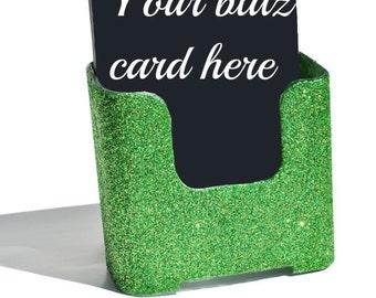 Lime Green blitz card holder.  Glitter. Bling. Lime Green. Sparkly.  Sparkles.