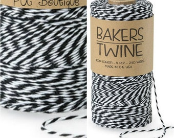 Black & White Duo 4-ply 100% Cotton Baker's Twine (Free Shipping!)