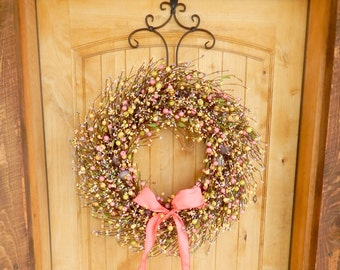 Easter Wreath-Easter Door Wreaths-Spring Wreath-Spring Home Decor-PASTEL Egg Wreath-Holiday Wreath-Spring Home Decor-Scented Wreaths