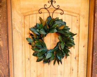 MAGNOLIA Wreath-Fall Wreaths-Fixer Upper Decor-Farmhouse Wreath-Magnolia Door Wreath-Outdoor Wreath-Rustic Door Wreaths-Housewarming Wreath