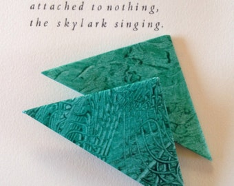 Origami Page Corner Bookmarks-Spruce Green