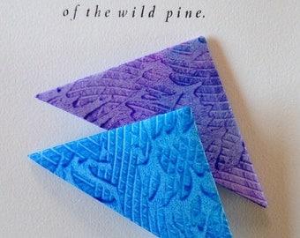 Origami Page Corner Bookmarks-Purple & Blue