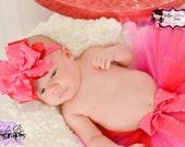 Babys 1st Tutu, Newborn Tutu, Babys 1st Valentines Day,  1st Birthday Outfit, Toddler Tutu, Birthday Outfit, Baby Tutu, Pink and Red Tutu