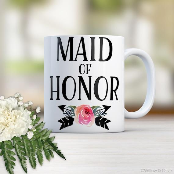 Maid Of Honor Gift Maid Of Honor Mug Maid Of Honor Matron
