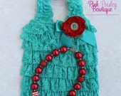 Baby Girl 1st Birthday Photo Outfit Turquoise Baby Romper Baby Girl Rompers - CAT in the Hat Birthday 1st Birthday Outfit Dr Suess Birthday