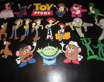 Toy Story birthday party decorations, banner, invitations, centerpieces