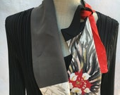 Vintage kimono silk short scarf FREE SHIPPING