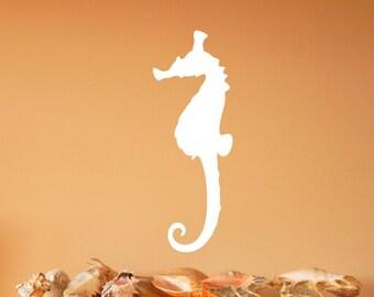 Seahorse Style B Vinyl Wall Decal 22559 | Beach Wall Decals | Beach Decor