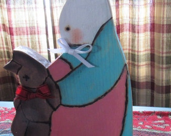 Boy Bunny With Stick Horse