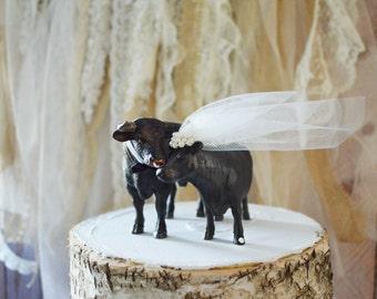 Cow-wedding-bull-bull rider-cake topper-groom's cake-western-farm-ranch-barn-rustic-cow lover-cowboy-cowgirl-country-bride-groom-farmer-cows