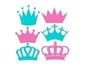 Crown Svg, Crowns Svg, Crown Monogram Svg, Princess Crown Svg, Cricut Cut Files, Silhouette Cut Files