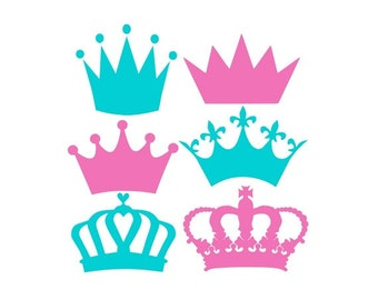Crown Svg, Crowns Svg, Crown Monogram Svg, Princess Crown Svg, Cricut Cut Files, Silhouette Cut Files