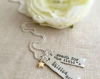 Graduation Necklace . Personalized Graduation . Graduation Jewelry . Graduation Gifts . Handmade jewelry . Custom jewelry . Engraved jewelry