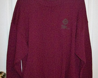 Vintage Men's Burgundy Golf Sweater Twickers by Kenneth Gordon Extra Large Only 6 USD