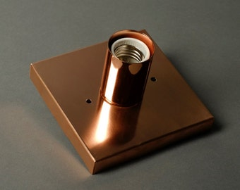Square Alpha wall Sconce- Polished Copper