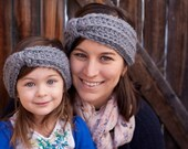 Mommy and Me Ear Warmer Set - Gray