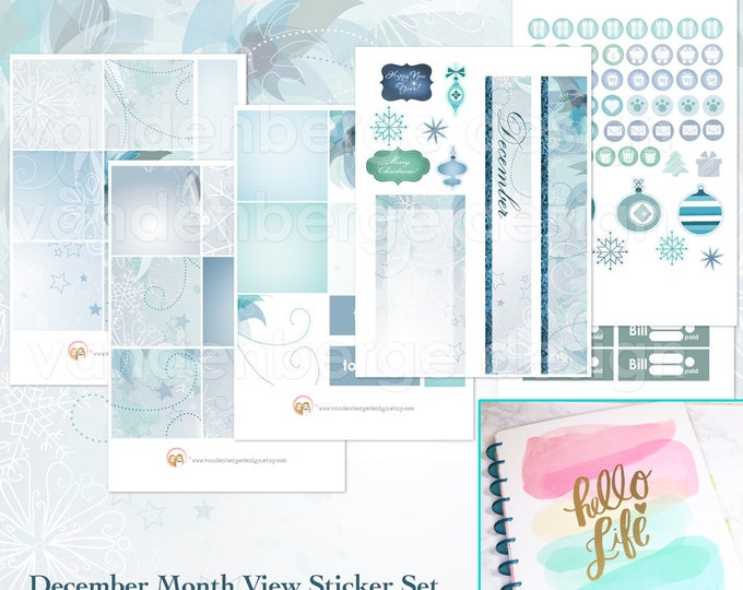 BIG Happy Planner December Month View Kit - sized to fit the MAMBI Big Happy Planner