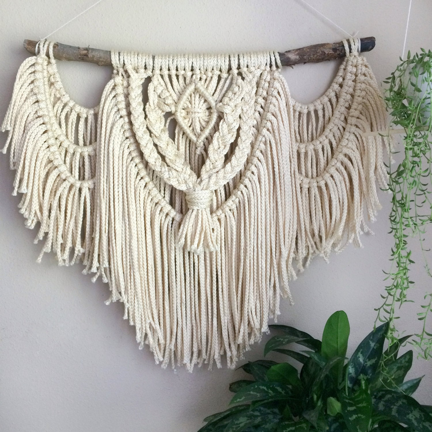 best rope for macrame wall hanging boho macrame wall hanging rustic earthy rope woven tapestry 5144