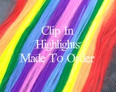 Hand Wefted Clip in 24 Inch Hair Extension 41 Funky Colors to Choose From Gothic Punk Cosplay