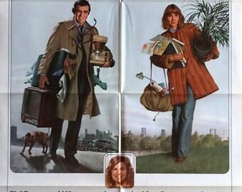 "Starting Over. 1979 Original 27""x41"" US Movie Poster. Morgan Kane Art of Burt Reynolds and Jill Clayburgh,Candice Bergen (Murphy Brown)"