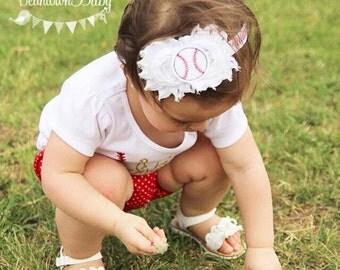 Baby Baseball Headband.  Newborn Baseball Headband.  Baby Sports Headband, Baby Baseball Outfit.  World Series Baby Headband.