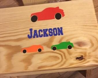 Childs Wood Stool - Personalized Wood Stool - Wood Step Stool - Painted Stool - Bathroom Stool - Kids Stepstool - Toddler Stool - Foot Stool