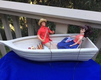 Barbie Doll House FISHING FUN VIGNETTE Room Furniture & Accessories Boat Picnic Fish