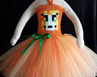 Minecraft cat tutu dress