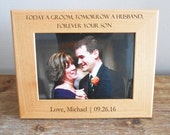 Personalized Mother of the Groom Picture Frame, Personalized Mother of the Groom Gift, Gift for Mother of Groom, Groom's Mom, FAST SHIPPING