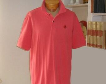 Mens Shirt Izod Size Large Vintage Short Sleeve Polo Shirt Salmon Coral