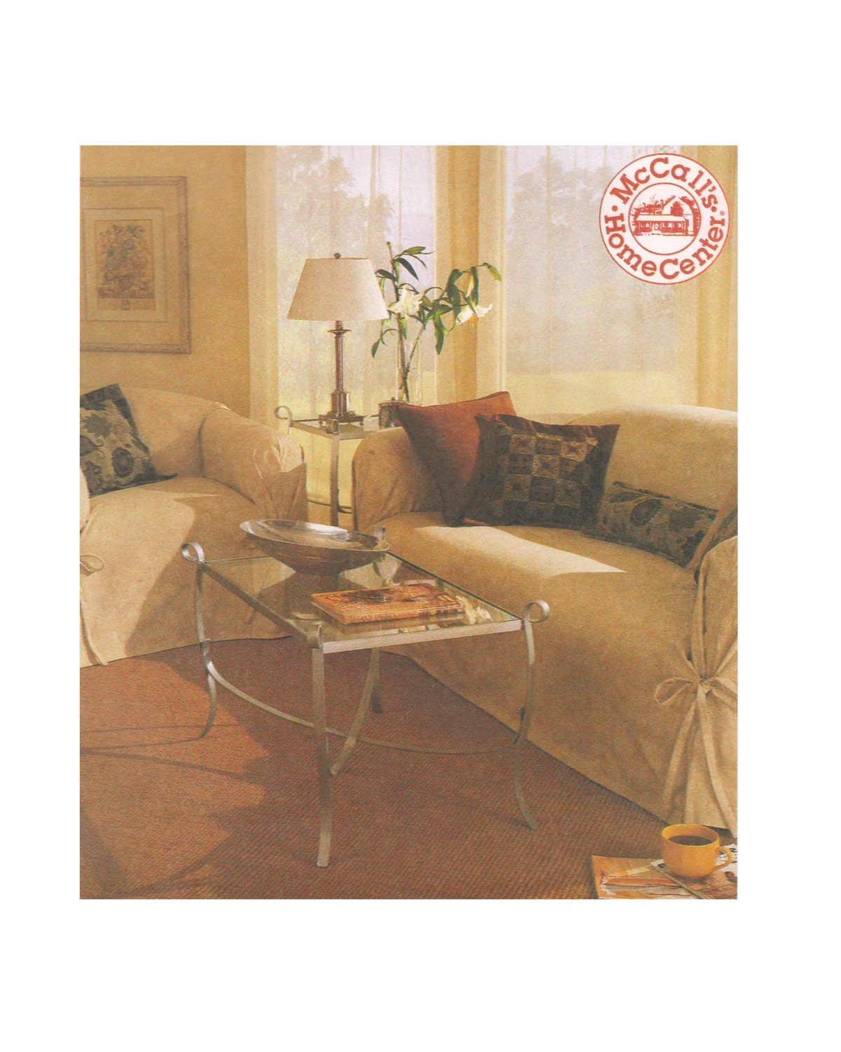 Mccalls 2161 1990s sewing pattern home decorating cover for Home decor 1990s