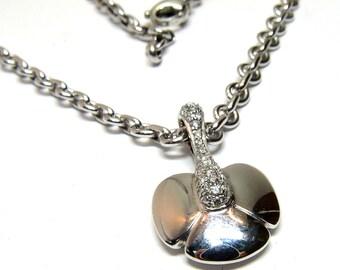 Authentic CHAUMET Diamond 18K White Gold Pendant Necklace